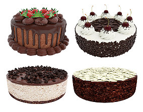 3D Chocolate cake collection