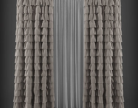 Curtain 3D model 190 game-ready