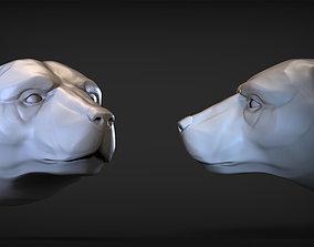 antarctica 3D printable model Polar bear 1