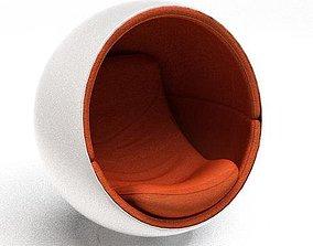 Circular Eggshell Chair 3D model