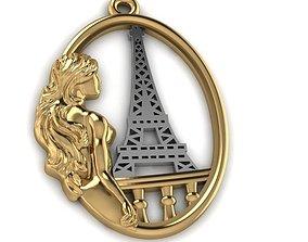 Girl in Paris 3D printable model