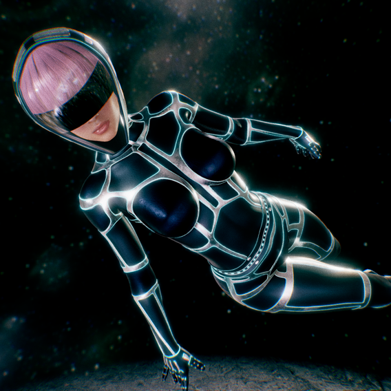 Woman with SciFi Space Suit
