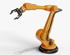 3D model Industrial robot arm clean lowpoly