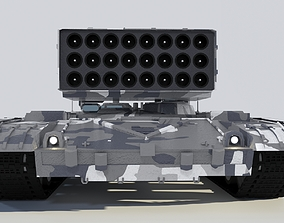 3D model Heavy fire-thrower system