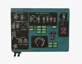 3D model Mi-8MT Mi-17MT Left Overhead Panels Board English