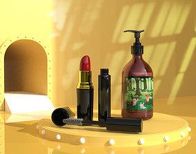 Lipstick nail polish toner cosmetics skin 3D model