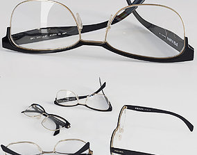 PRADA glasses 3D model eyewear