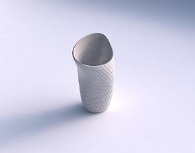 3D print model Vase vortex with distorted grid plates