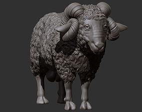 3D printable model mountain ram
