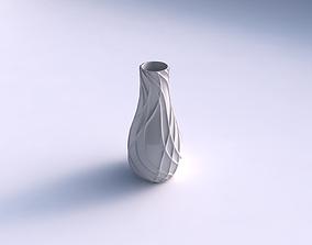 3D printable model Vase curvedwavy sparse extruded lines