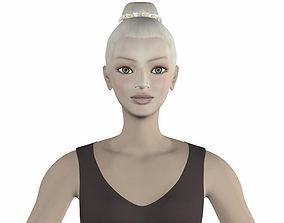 Eva ballet dancer 3D model game-ready