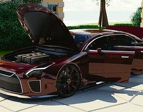 Generic Mid Size 4 Door Sedan With Sport Package 3D asset