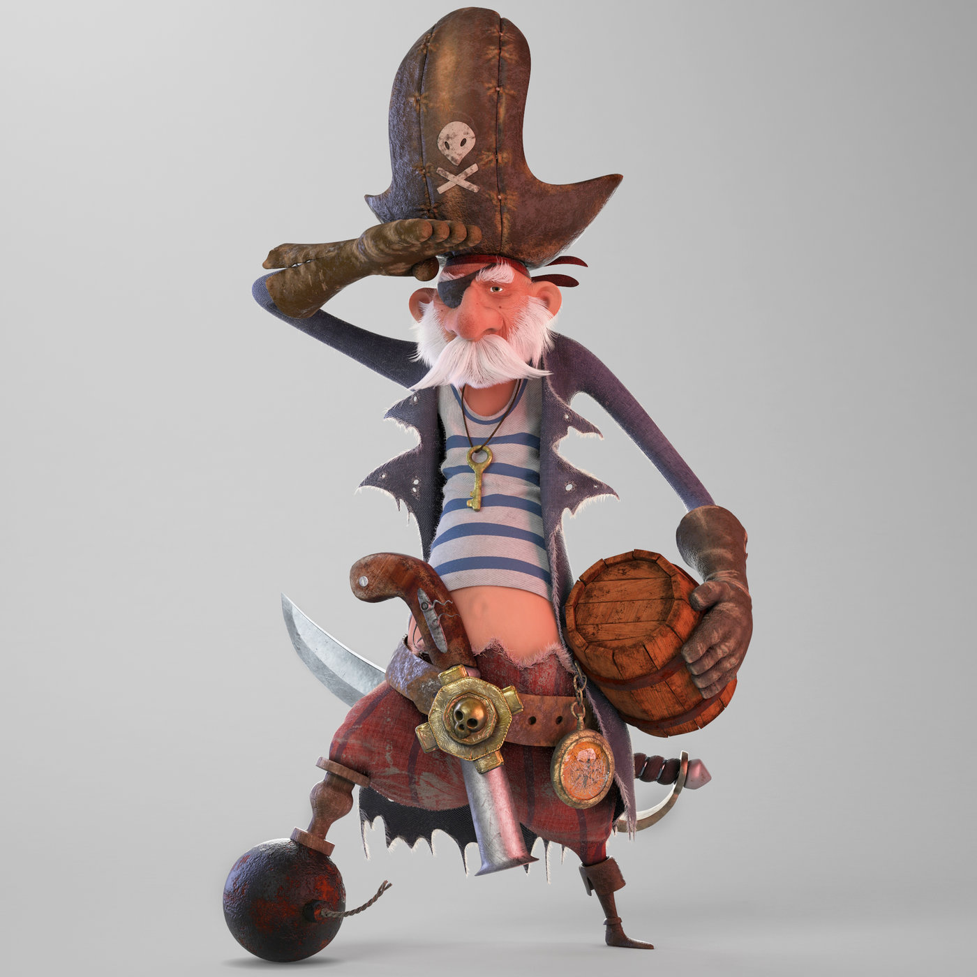 stylized pirate