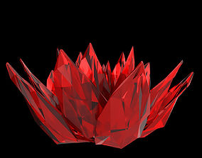 Abstract Lotus Crystal 3D model