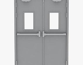 Double Fire Exit Door 3D