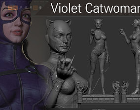 PBR Catwoman 3D Printing