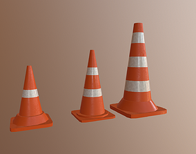 3D model Road Cones Traffic cones
