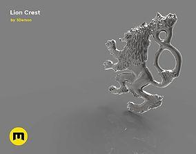 Lion Crest 3D print model