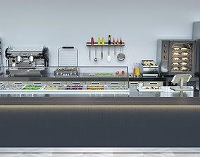 Coffee Shop 3D model set