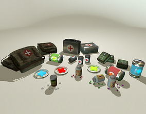 Medical Kits Pack 3D asset