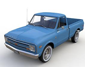 3D model CHEVY C10 PICKUP FLEETSIDE TRUCK 1968