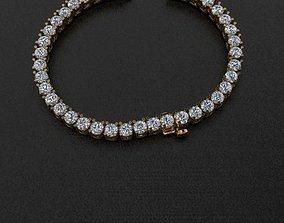 Diamond Tennis Necklace Links 3mm 3D print model