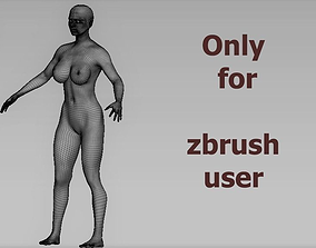 base women 3D asset