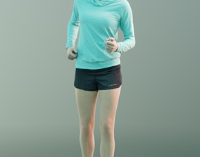 Ina 10060 - Sport Walking Girl 3D asset