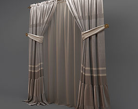3D model Classic curtains 2
