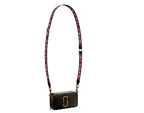 Marc Jacobs Snapshot Bag Leather Black 3D model