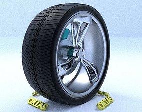 3D ORTAS CAR RIM 25 GAME READY RIM TIRE AND DISC