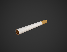 Cigarette 3D model low-poly