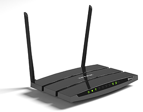 low-poly TP-Link n600 Wi-Fi router low-poly 3d model