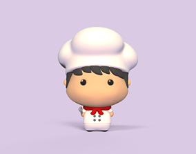 3D printable model Cute Cook