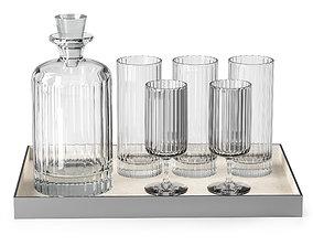 Glass set by Richard Brendon 3D model