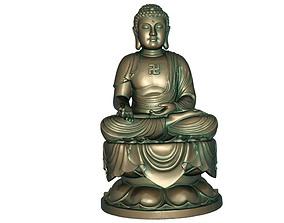 Buddha character 3D print model 3D model realtime