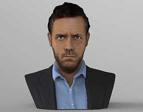 MD Gregory House bust ready for full color 3D printing