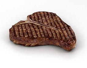 T-Bone Steak Cooked 3D model