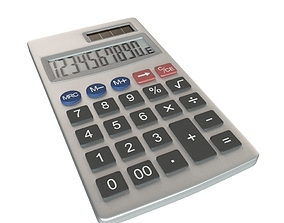 Calculator machine 3D model