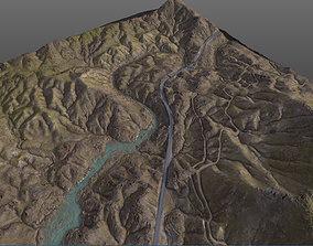 3D Valley 8K Terrain PBR