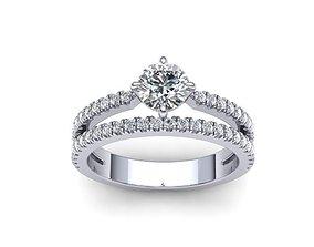 Engagement ring Two diamond arrows printable model 0281