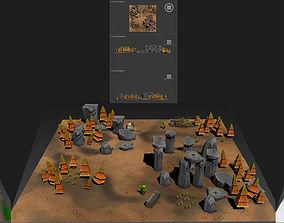 3D model Cartoon Level Design Environments