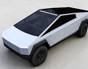 car 3D model TESLA CYBERTRUCK 2019