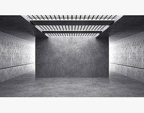 Empty room interior 01 3D