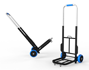 Cart Storage Blue 3D model