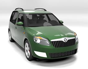 SKODA ROOMSTER 2011 LOWPOLY 3D model