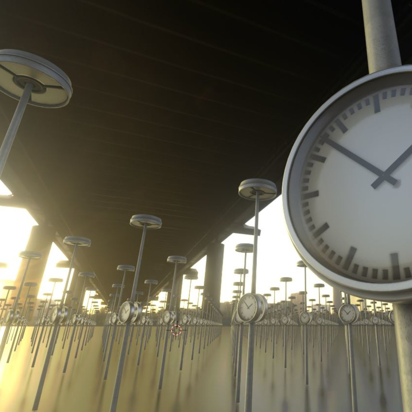Street Light -1- with station clock