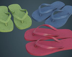 3D asset Flip Flops 1B