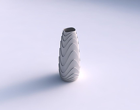 3D printable model Vase Bullet with horizontal wavy layers
