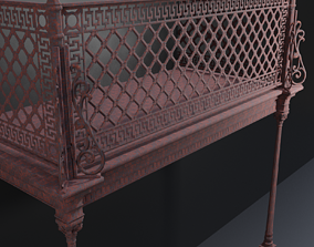 Rust Balcony 3D asset